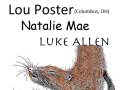 Lou Poster of Driftmouth (Columbus, OH), Natalie Mae, Luke Allen