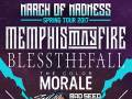 Memphis May Fire * blessthefall * The Color Morale * Sylar * Bad Seed Rising