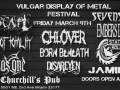 Vulgar Display of Metal with Path of Totality, Escape, Chlover, Born Beneath, Seven Sins, Embers Dawn, Disareyen, State of Solitude, Irra's One, & Jamina! Plus a punk rock patio party!