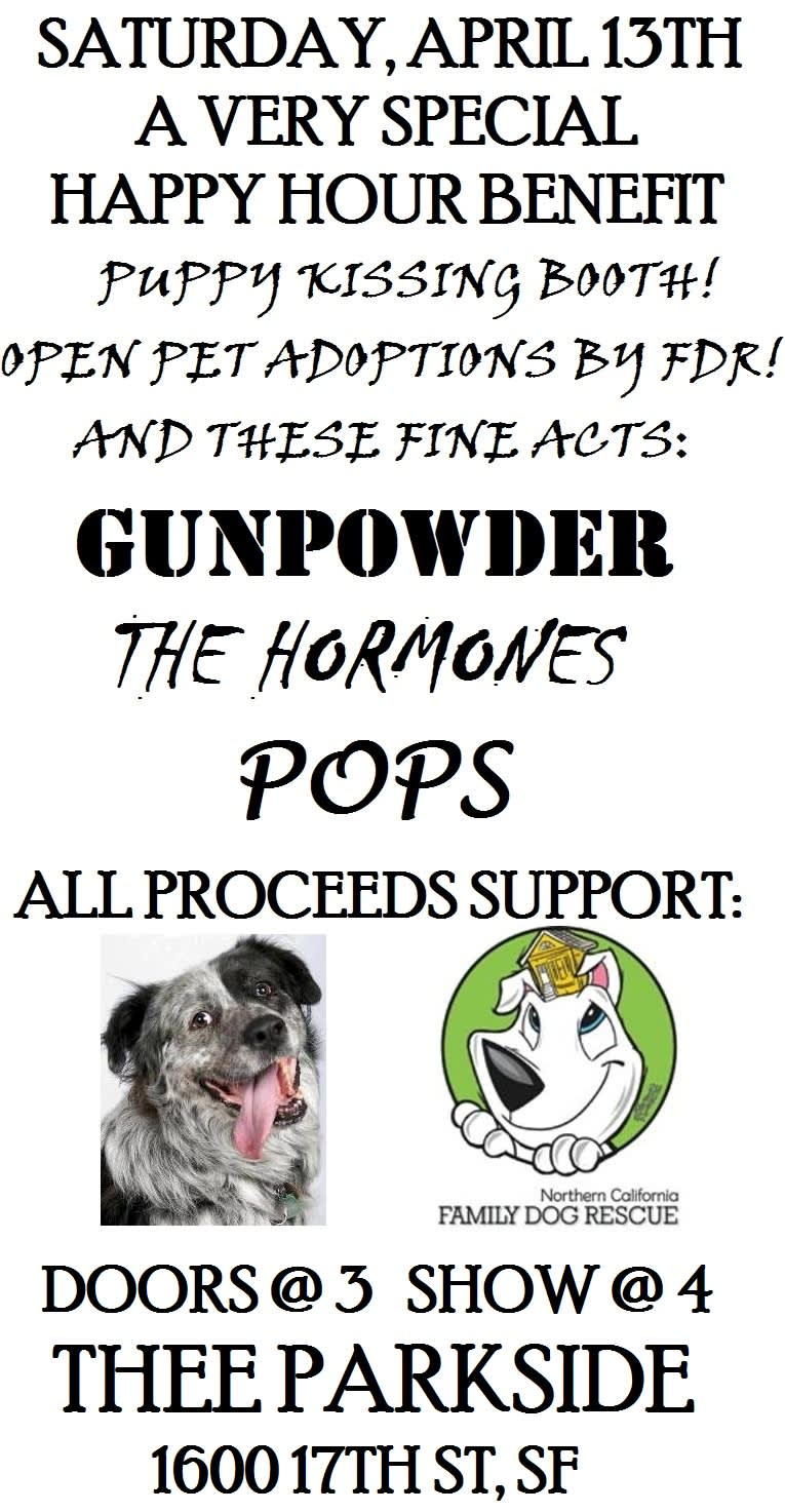 Thee Parkside - GUNPOWDER, THE HORMONES, POPS