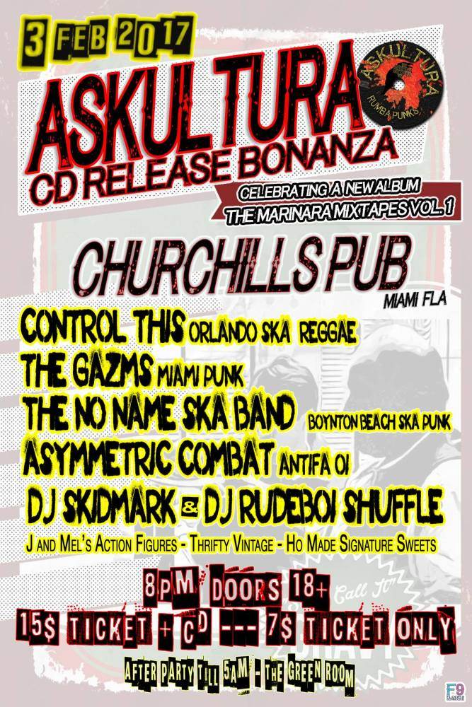 Churchill's Pub - Askultura 'Marinara Mixtapes' CD Release