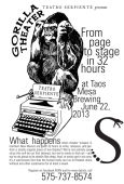 Gorilla Theatre - From Page To Stage In 32 Hours