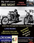 First Night Of Sunday Bike Nights Hosted By Big Josh And Performing Will Be Thee Swank Bastards. Under New Management, Everyone Welcome!  Live Music, Free Hot Dogs, $5, Bikers Free Entry, 5pm
