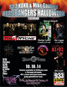 93.3 KDKB & Mike Gaube's Headbangers Halloween Featuring The Ryche/George Lynch/Oni Logan