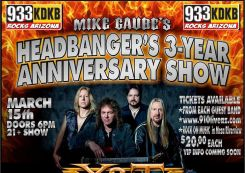 93.3 KDKB and Mike Gaube's Headbangers 3 year anniversary show Featuring Y&T's 40th Anniversary tour!