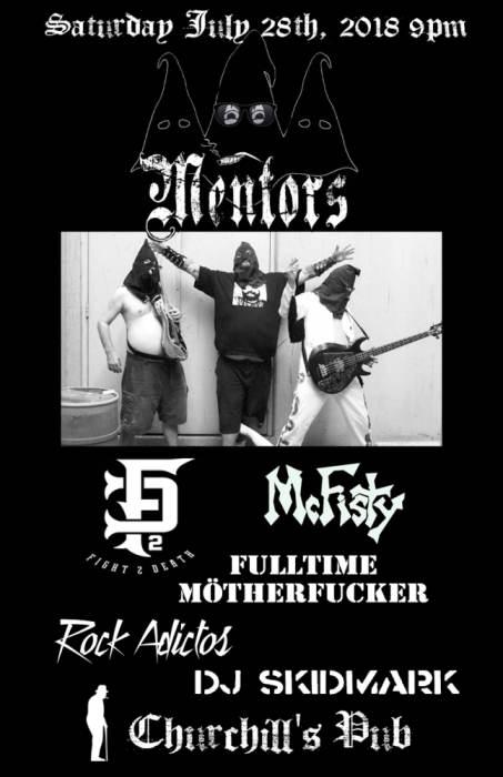 The Mentors, Fight 2 Death, McFisty, FullTime M.F., Rockadictos