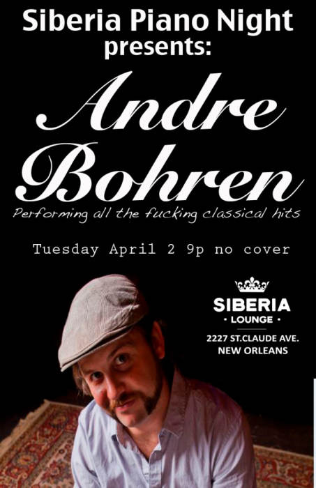 Piano Night with Andre Bohren