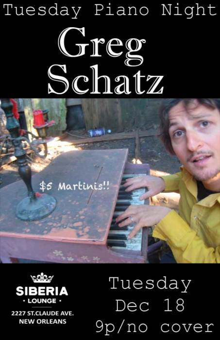 Piano Night: Greg Schatz