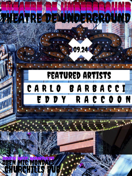 Miami Jazz Jam with the Fernando Ulibarri Group & Theatre de Underground Open Mic hosted by Carla Cabello Featuring Carlo Barbacci & Eddie Raccoon