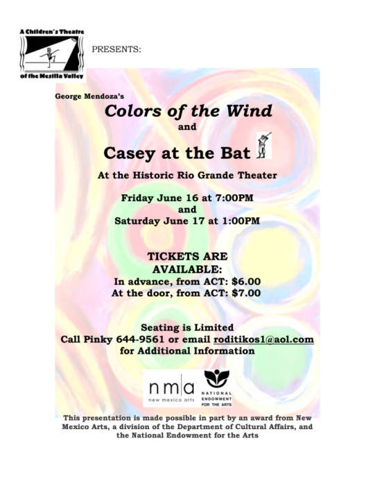 Colors of the Wind & Casey at the Bat