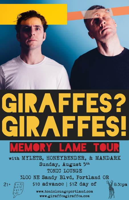 GIRAFFES? GIRAFFES!  *SHOW MOVED TO TONIC LOUNGE