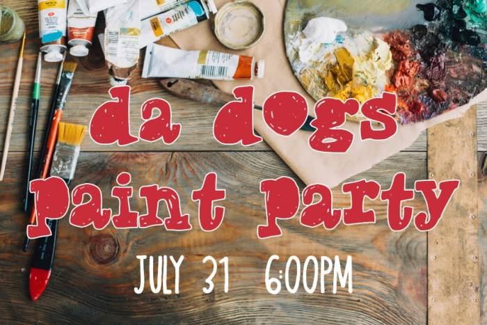DA Dogs Paint Party