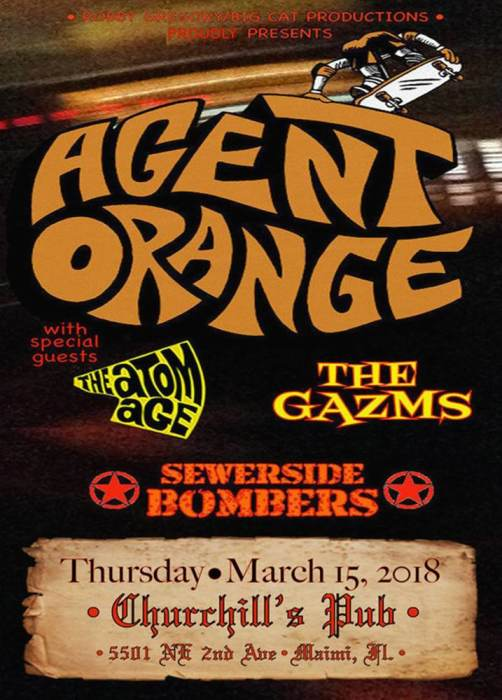 Agent Orange, The Atom Age, The Gazms, Sewerside Bombers