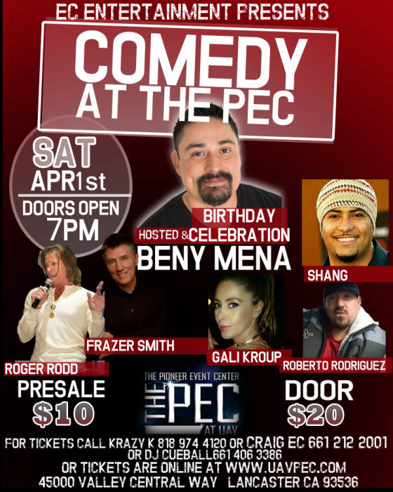 COMEDY AT THE PEC