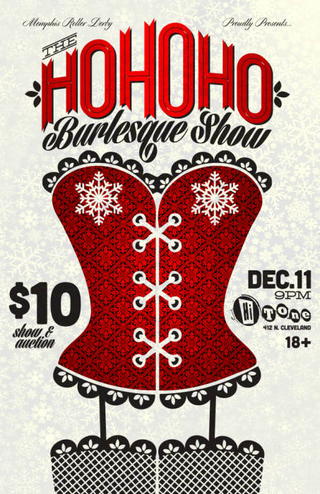 Memphis Roller Derby HOHoHO Burlesque Show