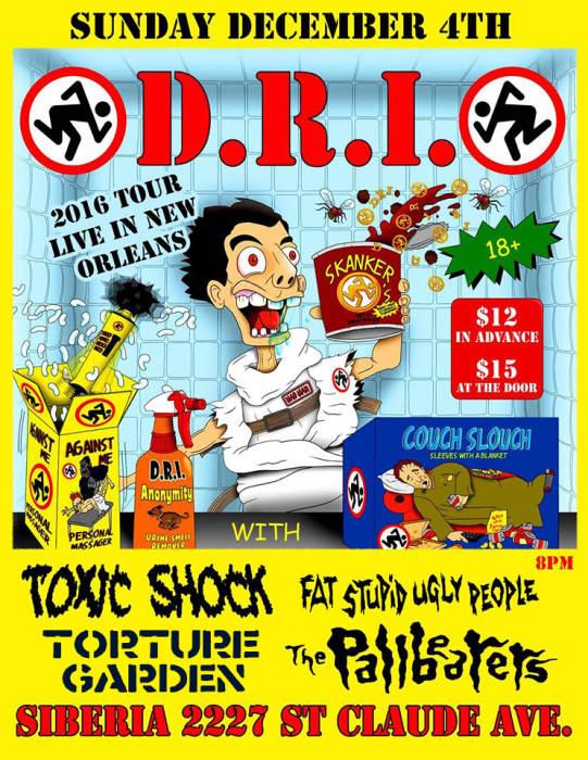 D.R.I. | Toxic Shock | Fat Stupid Ugly People | Torture Garden | Pallbearers