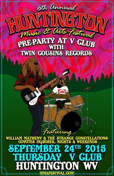HMAF Pre-Party W/ William Matheny & the Strange Constellations / Coyotes In Boxes / Nights & Weekends