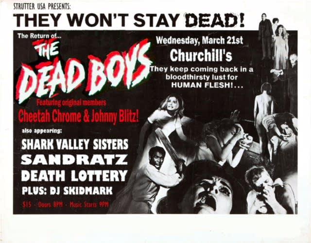 Dead Boys, Shark Valley Sisters, Sandratz and Death Lottery