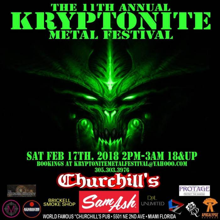 11th Annual Kryptonite Metal Festival