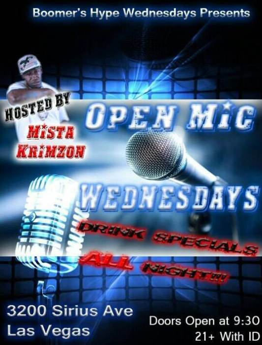 Boomers Hype Wednesdays Hosted by Mista Krimzon