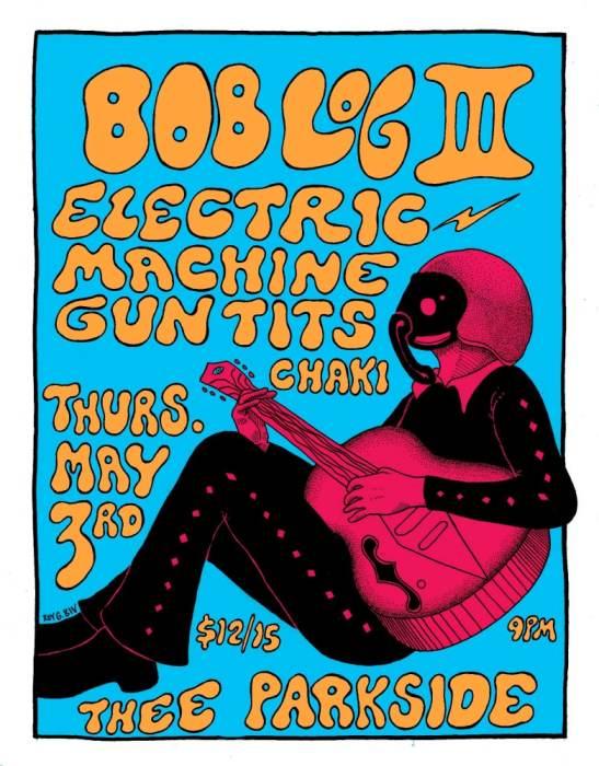 Bob Log III, Electric Machine Gun Tits, Chaki
