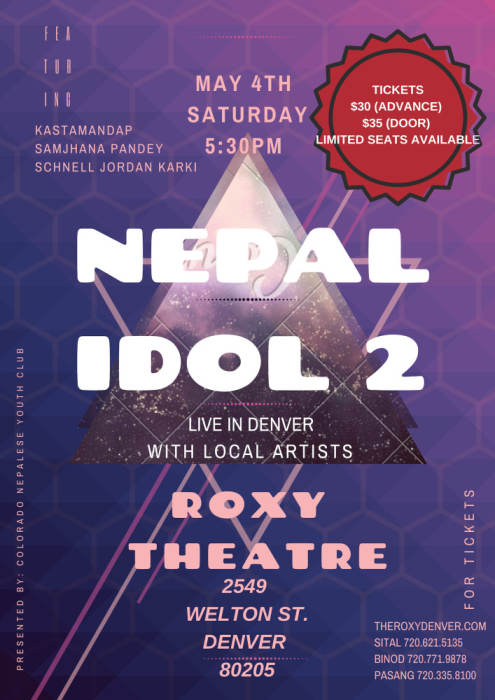 Nepal Idol US Tour