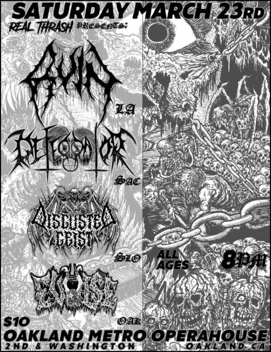 Ruin, Defecrator, Disgusted Geist, Evulse