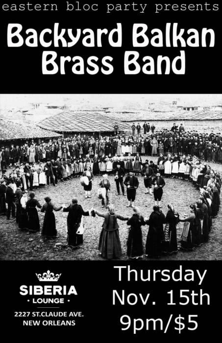 Eastern Boc Party: Backyard Balkan Brass Band