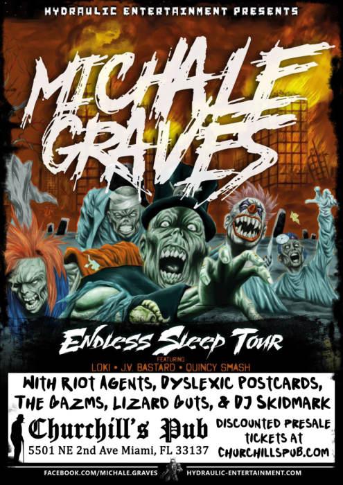 Michale Graves, Riot Agents, Dyslexic Postcards, The Gazms, Lizard Guts, & DJ Skidmark