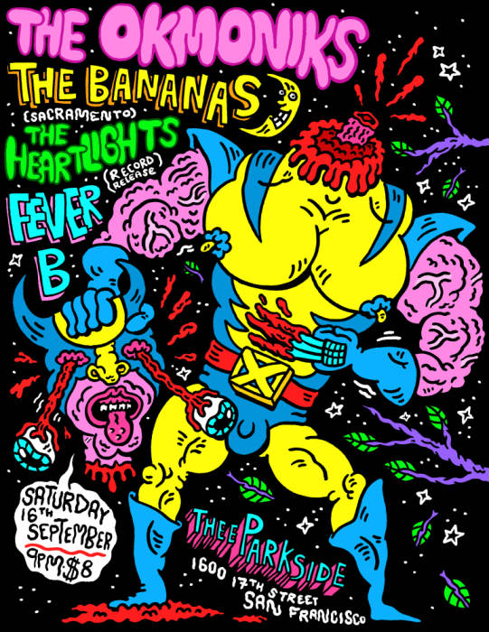The Okmoniks, Bananas, The Heartlights, Fever B
