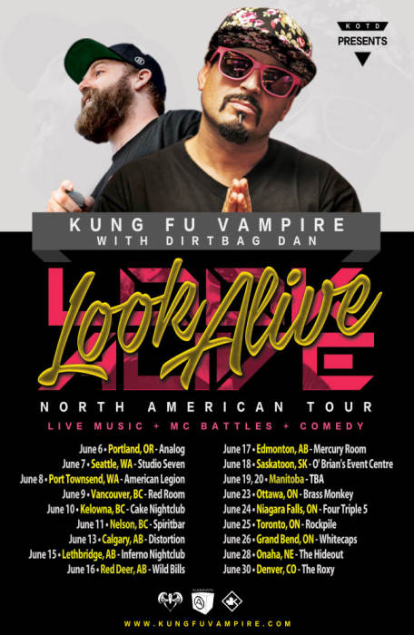 KUNG FU VAMPIRE & DIRTBAG DAN - LOOK ALIVE TOUR!