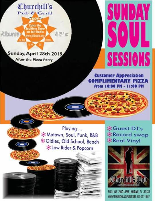 Sunday Soul Sessions, Customer Appreciation Day, Complimentary Pizza 10-11, No Cover