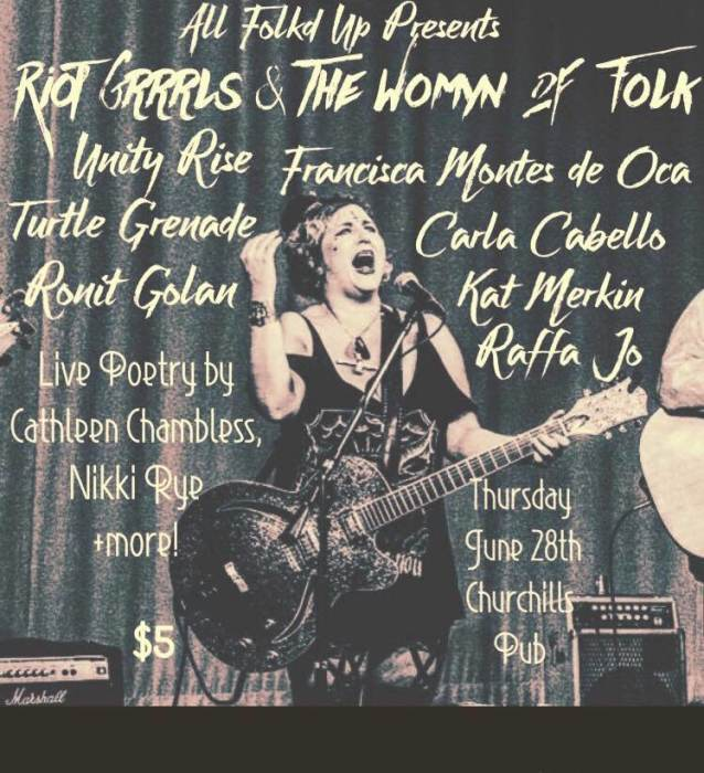 All Folkd Up presents the Riot Grrrls and The Womyn of Folk
