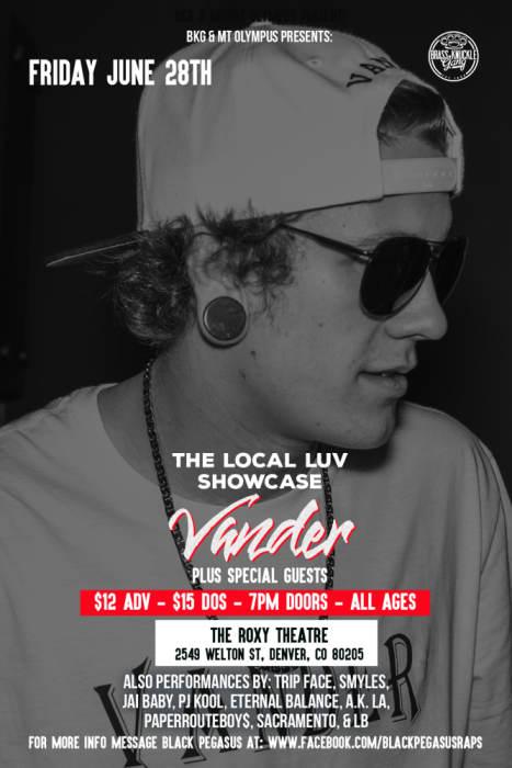Local Love Showcase with VANDER