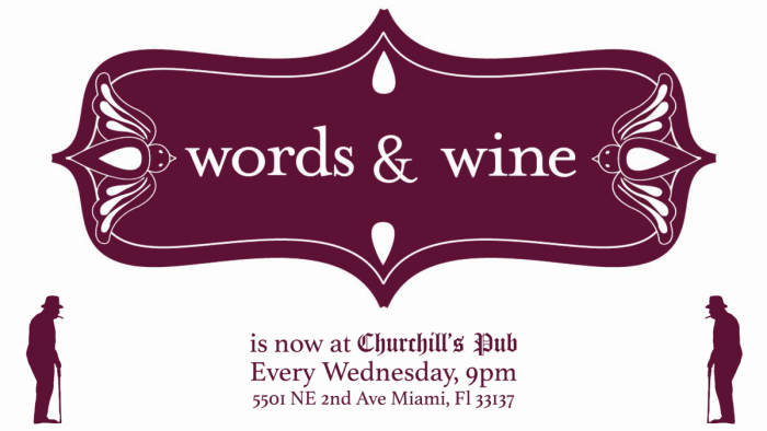 Words & Wine Open Mic & Drum Circle! Arts & Crafts Vending! No Cover!