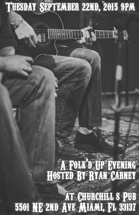 A Folk'd Up Evening, hosted by Ryan Carney