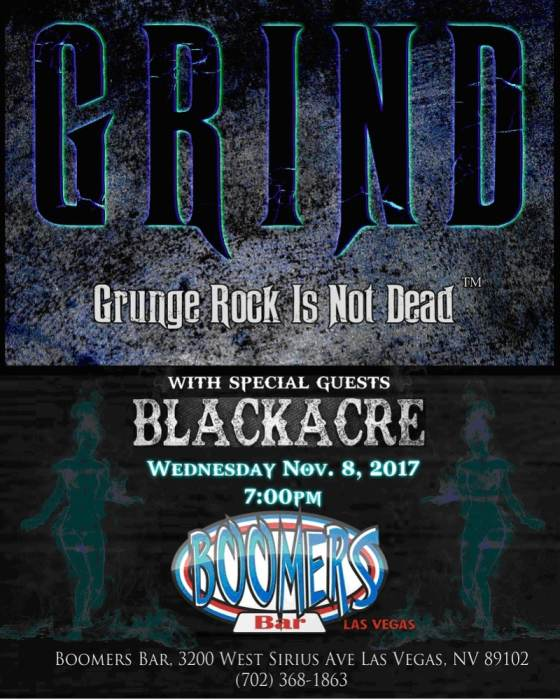 "GRIND ""Grunge Rock Is Not Dead"" with Blackacre"