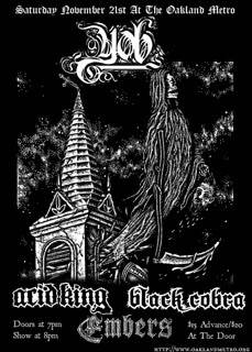 YOB, Acid King, Black Cobra, Embers