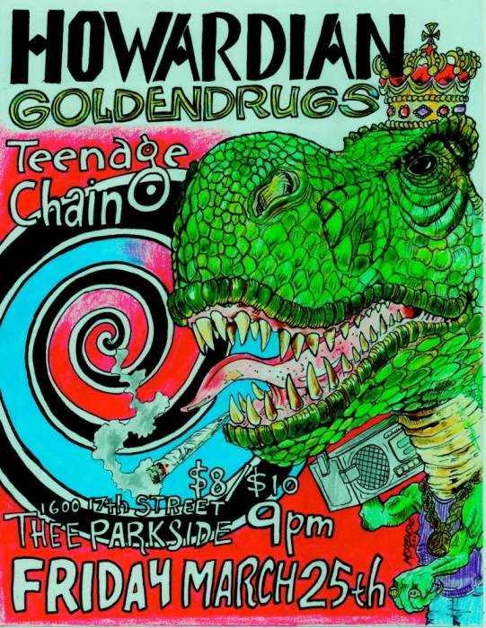 Howardian (feat: Ian Vanek of Japanther), Golden Drugs, Teenage Chain