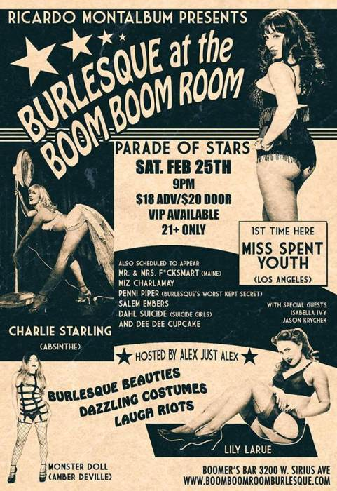Parade of Stars with Burlesque at the Boom-Boom Room
