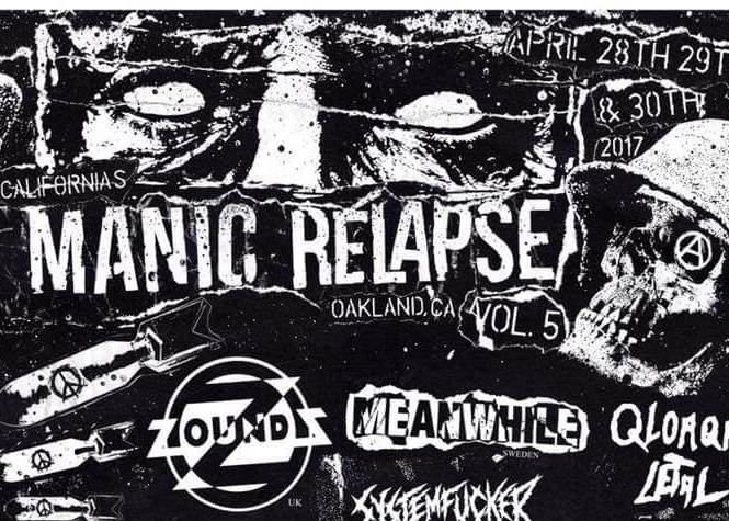FRIDAY MAIN: manic relapse fest