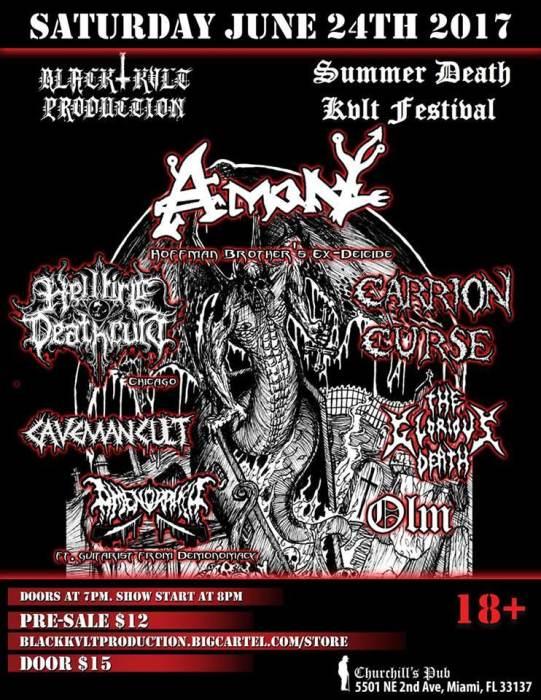 Summer Death Kvlt Fest W/ Amon & Hellfire Death Cult & more