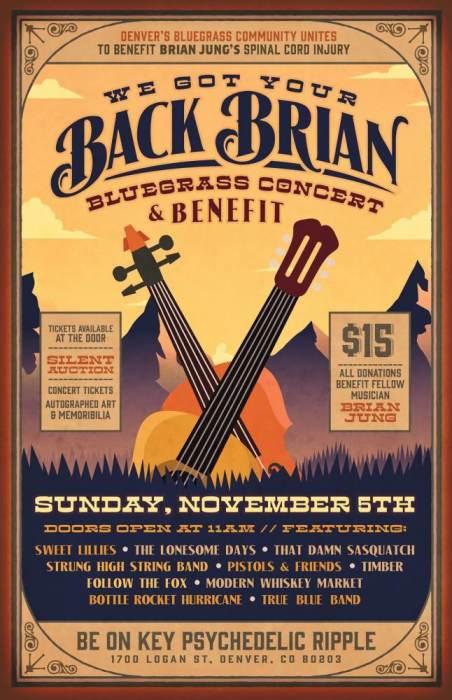 We Got Your Back Brian, Bluegrass Benefit Concert