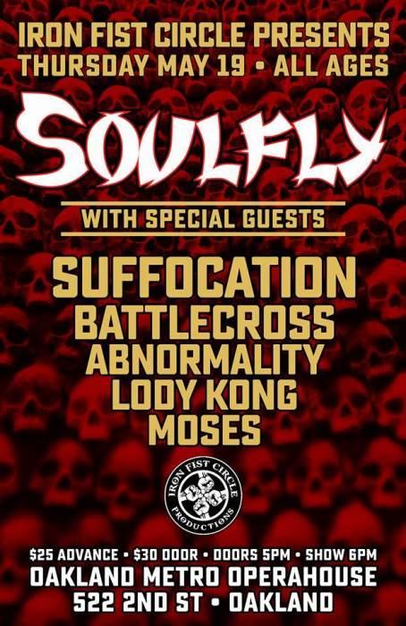 Soulfly/Suffocation/Battlecross