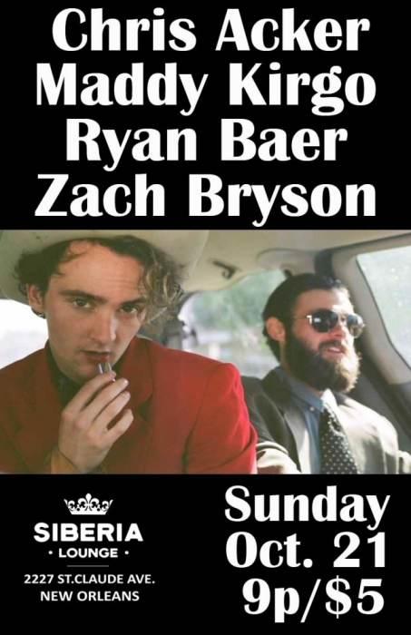 Chris Acker | Maddy Kirgo | Ryan Baer | Zach Bryson