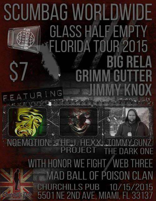 SCUMBAG WORLD WIDE - Glass half empty tour