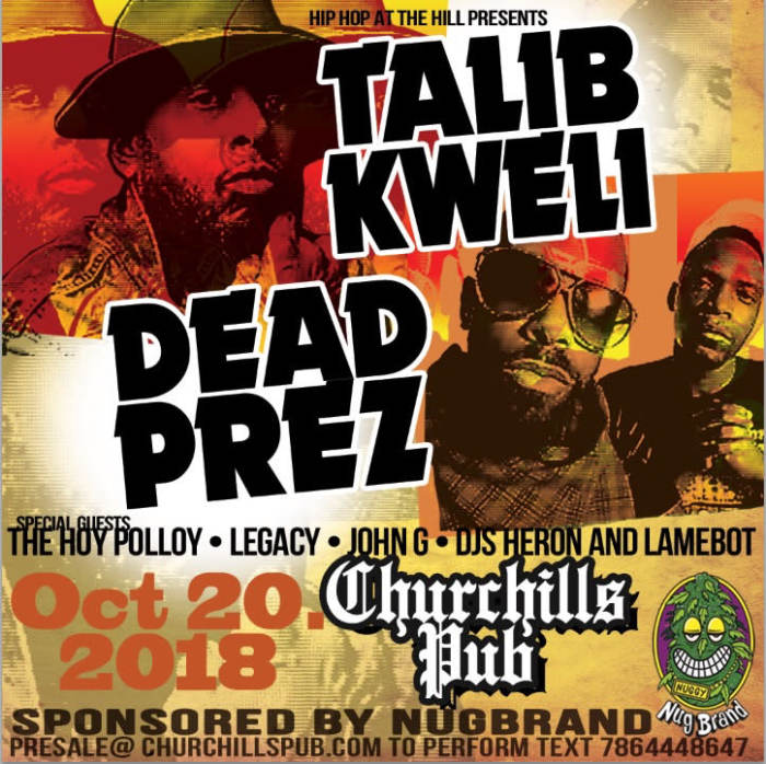Dead Prez & Talib Kweli presented by Nugbrand