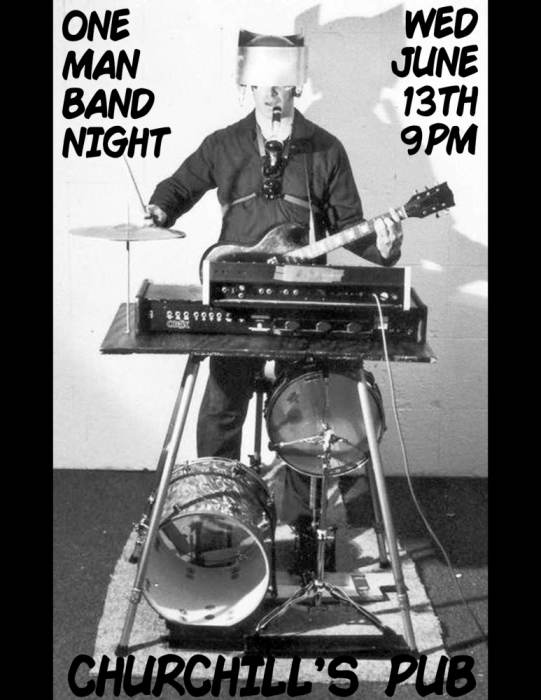 One Man Band night with Uncle Scotchy, Matchstick Johnny, Lone Wolf, and more