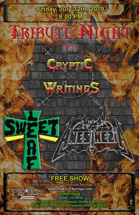 Tribute Night with Cryptic Writings /