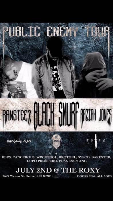 Black Smurf Public Enemy Tour